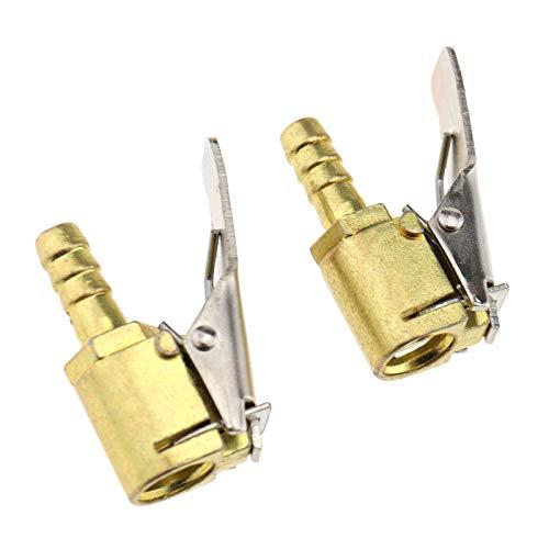Create Idea 2 Stück Ventil zum Aufpumpen von Messing Auto LKW 6 mm Reifen Kompressor Ventil Anschluss Rohrleitungen