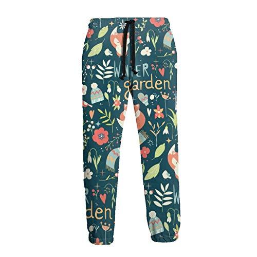 Amanda Horatio Winter Garden Fox - Pantalones deportivos para hombre, talla grande y alta, para entrenamiento