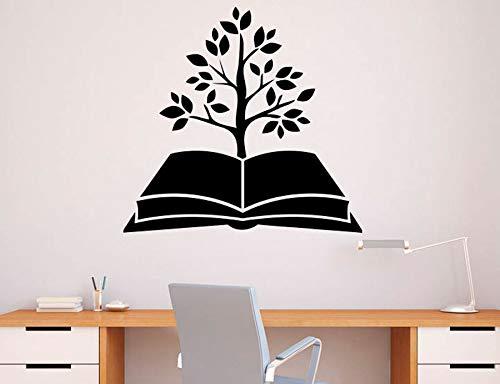 ONETOTOP Albero Libro Adesivo Libreria Vinile Adesivo Educazione Scolastica Home Art Design Murales Modern Room Interior Decoration60 * 57cm