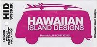 ハワイアン雑貨/ハワイ雑貨 ハワイアン ワーゲンバス ステッカー (G-ピンク) 【お土産】