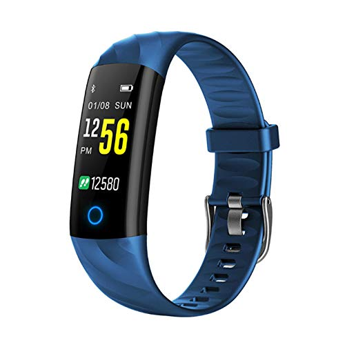 JXFF S5 Ladies Smart Watch Ritmo Cardíaco Monitor De Presión Arterial A Prueba De Agua Smartwatch Deportes Actividad Pedómetro Tracker Aptitud Pulsera para Android iOS,B