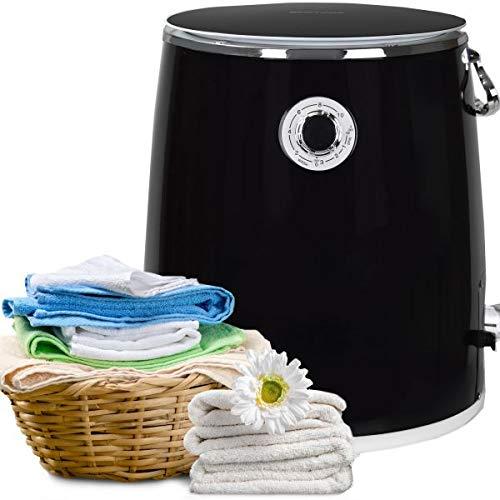 Syntrox Germany 3 Kg WM-380W Waschmaschine mit Schleuder Campingwaschmaschine Mini Waschmaschine (Schwarz)