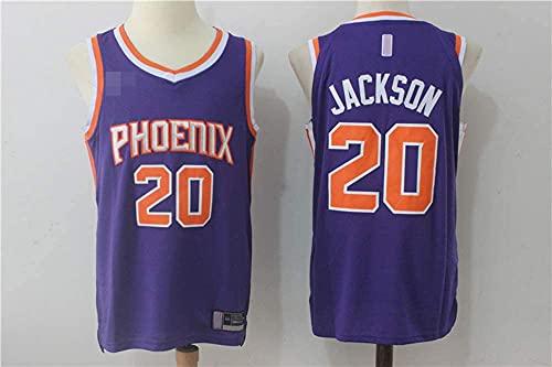 XUECHEN Ropa Hombres Jersey, NBA Phoenix Suns # 20 Stephen Jackson, Uniformes de Baloncesto Camisetas de Deporte sin Mangas clásicas y Camisetas cómodas, púrpuras, L (175~180 cm)