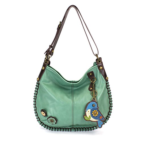 CHALA Crossbody Handbag, Hobo Style, Casual, Soft, Large Bag Shoulder or Crossbody - Teal (Blue Bird)