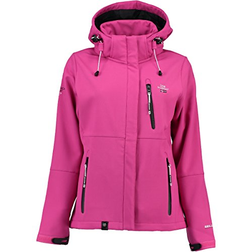Geographical Norway Tehouda Damen Softshell Jacke Outdoor Übergangsjacke Parka (XL, Rosa)