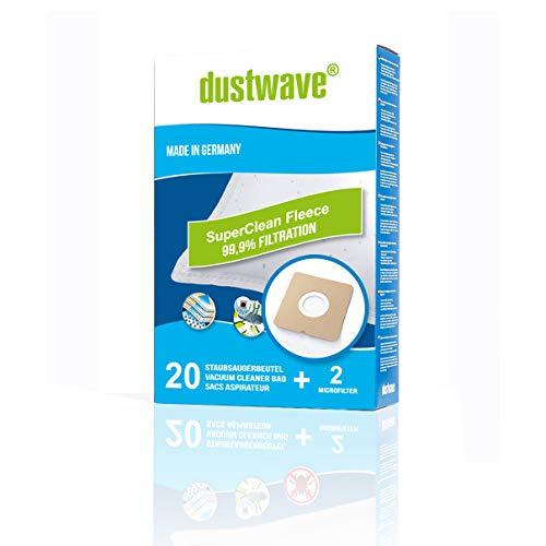 Megapack - 20 Staubfilterbeutel | Filtertüten geeignet für Germatic - PS 1500W.1NE Staubsauger - dustwave® Markenstaubbeutel/Made in Germany + inkl. Microfilter