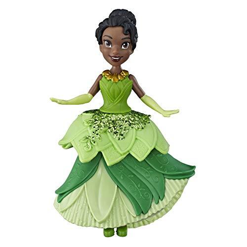 Disney Prinzessin Tiana Puppe zum Sammeln mit glitzerndem, grünem Klip-Kleid, Königliche Klips Spielzeug für Kinder ab 3 Jahren