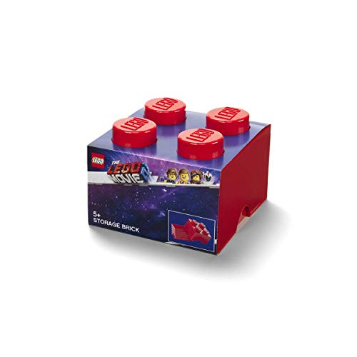 Room Copenhagen Lego Movie 2 Brick 4 Caja de Almacenamiento, Rojo, Talla única