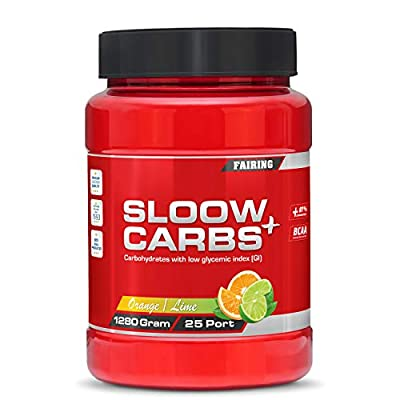 Sloow Carbs Carbohydrate Powder Low Glycemic Sports Drink for Energy, Recovery, Hydration - Vegan Patented Palatinose, Caffeinie BCAA 1280 Grams by Fairing Sweden AB