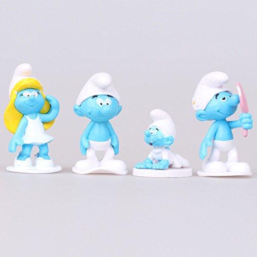 The Smurfs The Lost Village Papa Cat Gargamel 12 PCS Action Figure Kids Toy Gift