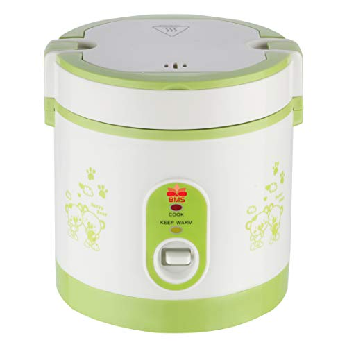 BMS LIFESTYLE Kitchen Master Small Electric DINNER MAKER,PASTA MAKER 2 Cup Mini Rice Maker with One Touch Control and Automatic Keep Warm Function, Perfect for Grains and Oatmeal