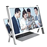 Bot 3D Laptop Screen Magnifier Protector Holder, 21' Foldable Computer Laptop Phone Holder Stand, Computer Phone Screen Magnifiers Holder with Adjustable Angle Design (Color : White)