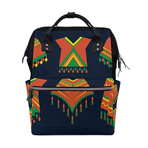 Poncho Kleidung Icons Schulrucksack Große Kapazität Mumien-Taschen Laptop Handtasche Casual Reiserucksack Ranzen für Damen Herren Erwachsene Teenager Kinder