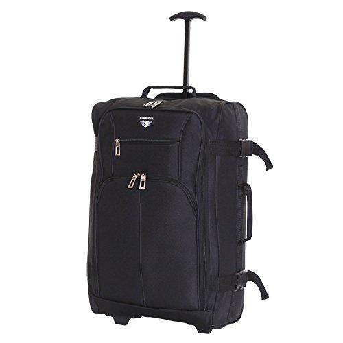 Slimbridge Lobos super leggero 55 cm bagaglio a mano con ruote, Nero