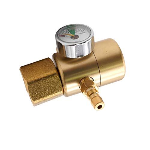 LXH-SH Das elektromagnetische Ventil Alle Kupferdruckminderer Druckminderer Gasregler Manometer 0-3000PSI Flussmessgerät Meter Industriebedarf
