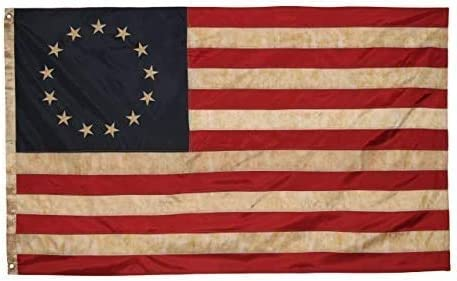 Betsy Ross Vintage Ranking TOP3 Embroidered Flag Premium Sale item Oxford 3x5ft - Polye