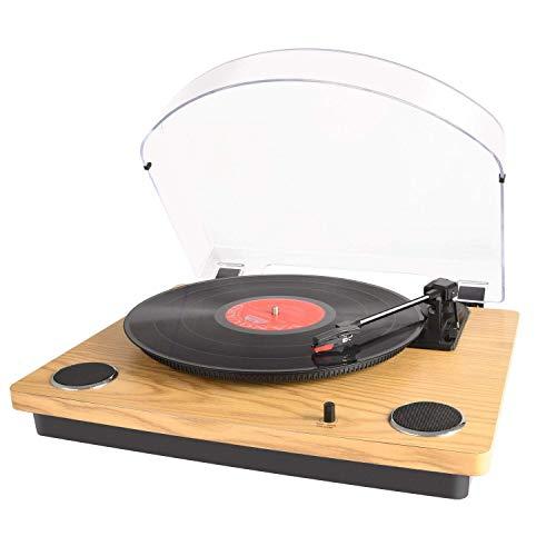 MAX Pad LP Tocadiscos para Vinilo con Altavoces estéreo, conversión de Vinilo...