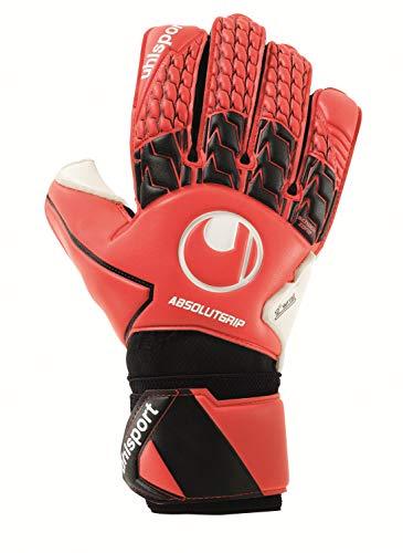 uhlsport Unisex– Erwachsene ABSOLUTGRIP Torwarthandschuhe, Fußballhandschuhe, rot/schwarz/weiß, 10