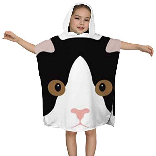 IUBBKI Icône Simple Cartoon Kitty - - USA, Serviette de bain à Capuche Pour Enfants - Swim Pool Coverup Poncho Cape Chat Domestique Multi-Usage