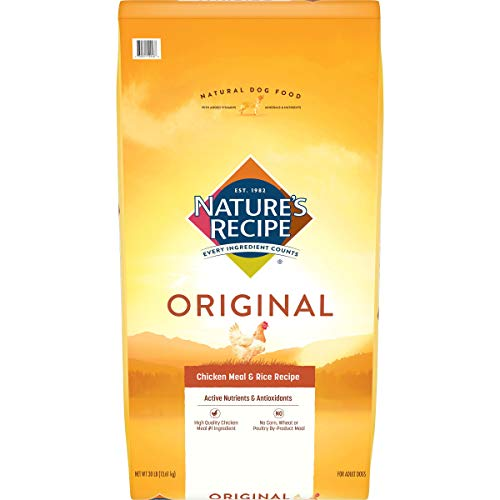 Nature's Recipe Adult Dry Dog Food, Chicken Meal & Rice Recipe, 30 Pounds