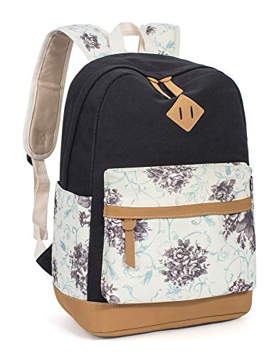 Leaper lightweight canvas backpack for women and girls