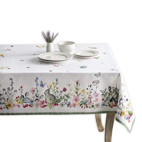 Maison d' Hermine Printemps - Mantel de 100 % algodón para cocina, cena, mesa, decoración de fiestas, bodas, primavera y verano (rectangular, 160 cm x 220 cm)