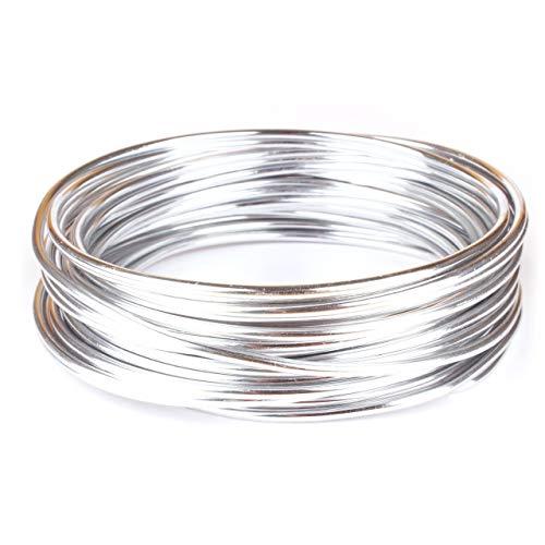 Goodwei Creacraft Schmuckdraht Silber 10 Meter, Aluminiumdraht (3mm)