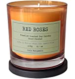 Soy Candle , Highly Scented, Hand Poured, 8.1 oz (RED Roses)