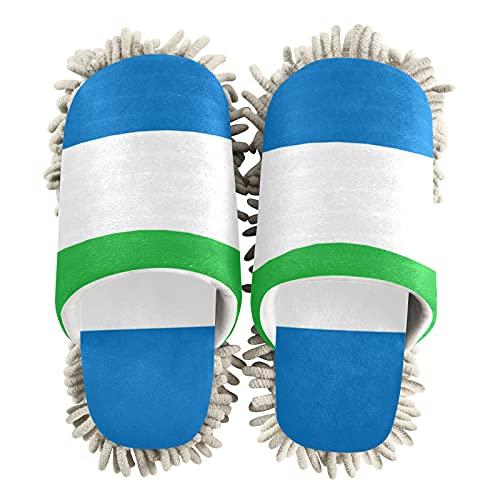 Zapatillas de limpieza unisex con la bandera de Sierra Leona
