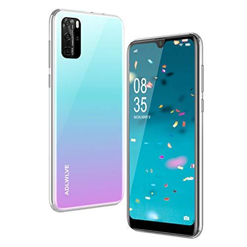 Teléfono Móvil Libres, 3GB RAM/32GB ROM Moviles Libres Baratos 4G,6,3 Water-Drop Pulgadas, Android 9.0, 4600mAh Batería, Smartphone Barato Dual SIM, Cámara 8MP, Face ID Smartphone Libre(Blanco)