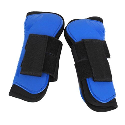 yotijar Equestrian Tendon Boots paard springen beenbescherming borstel ondersteuning laarzen - blauw, zoals beschreven