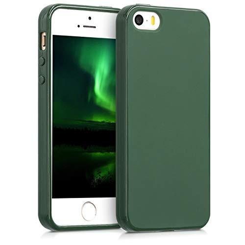 kwmobile Hülle kompatibel mit Apple iPhone SE (1.Gen 2016) / 5 / 5S - Handyhülle - Handy Case in Dunkelgrün matt
