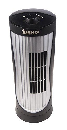 Igenix DF0020 Mini Tower Fan, 12 Inch, 2 Speed, Oscillating, Quiet...