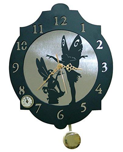 Arthifor - Reloj de Pared Hadas con péndulo y termómetro