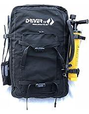 Driver13 ® Kitebag Reserve vervangende tas rugzak voor uw kite, zwart tot 19 m²