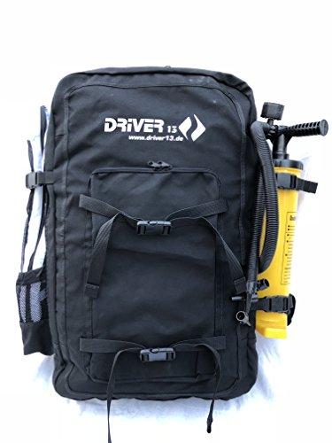 Driver13 ® Kitebag Spare Ersatztasche Rucksack für Dein Kite, schwarz bis 19 m²