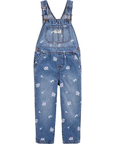 Osh Kosh Girls' Toddler World's Best Overalls, Cornflower Blue, 3T