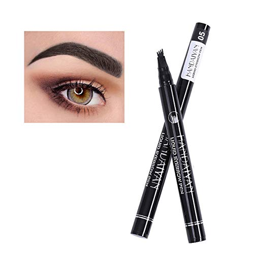 LIZONGFQ Flüssiger Augenbraue Bleistift wasserdicht lang dauerhaft 4 Zinken Microblade Tattoo Pen Crayon Crayon Augenbraue Bleistift Makeup,5