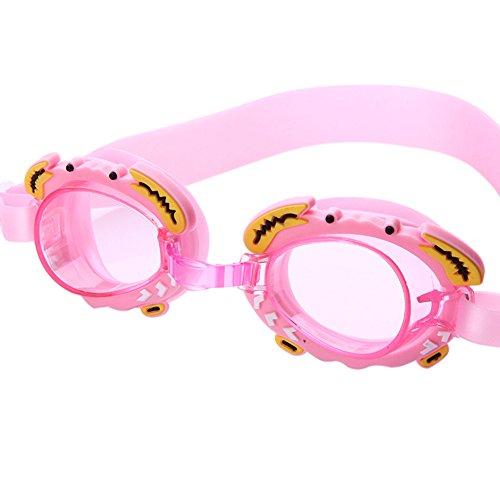 CxIACom - Occhialini da Nuoto Regolabili per Bambini e Bambine, Colore: Rosa