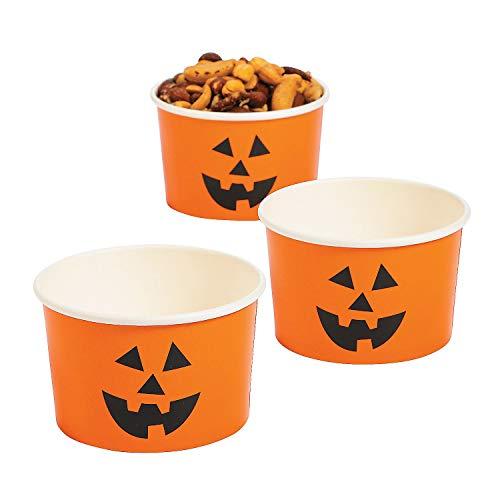 Halloween Jack O Lantern Pumpkin Snack Cups (set of 25)