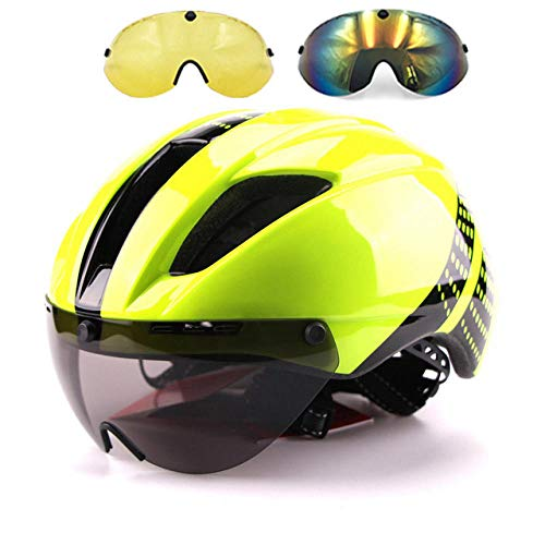 lhmlyl Casco Bici Bicicleta TT Aero Casco Ciclismo Carretera MTB montaña Integral triatlón Hombres Carrera Airo Time-Trial Bike Casco-Color 16_l