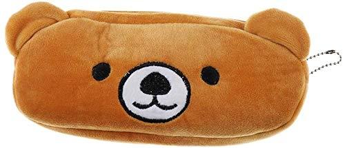 Leuke cartoon dierlijk ontwerp zachte pluche etui case rits portemonnee-lieveheersbeestje, 20x10cm (Color : Bear)