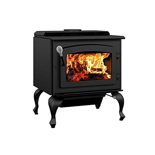 Drolet Escape 1800 Wood Stove on Legs Large 2020 EPA Certified Wood Stove - 75,000 BTU – 2,100 sq.ft, Model# DB03105