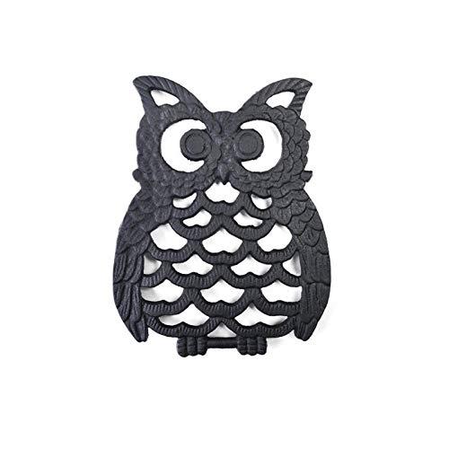 Lilangda Cast Iron Pot Trivet   Owl-shaped Rustic Metal Trivets With Vintage Pattern - Decorative Metal Table Trivet For Kitchen Cooking,Decorative Cast Iron Trivet