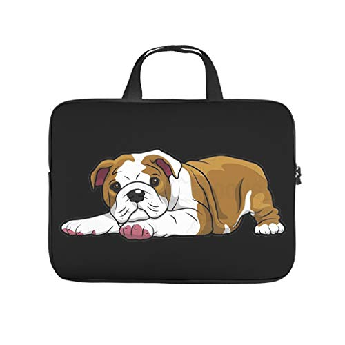 cute puppy dog animal Laptop bag Pattern Laptop Case Bag vintage Water Resistant Computer Protective Bag with Portable Handle for Women Men white 10 zoll