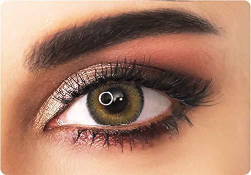 ADORE Lentilles de contact de couleur souples MARRON/NOISETTE – BI HAZEL - sans correction - 3 mois - effet NATUREL + étui à lentilles INCLUS