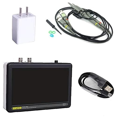 Osciloscopio digital FNIRSI 1013D 2 canales 1 GS/S LCD Pantalla táctil Tableta Osciloscopio 100MHz ancho de banda negro, osciloscopio