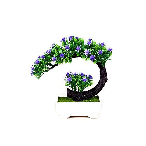 Ruiting Flores Artificiales,Árbol Planta Artificial,Bonsai Simulación Planta Buen Regalo para Amigos Decoración de Oficina Mesa Hogar (Violado)