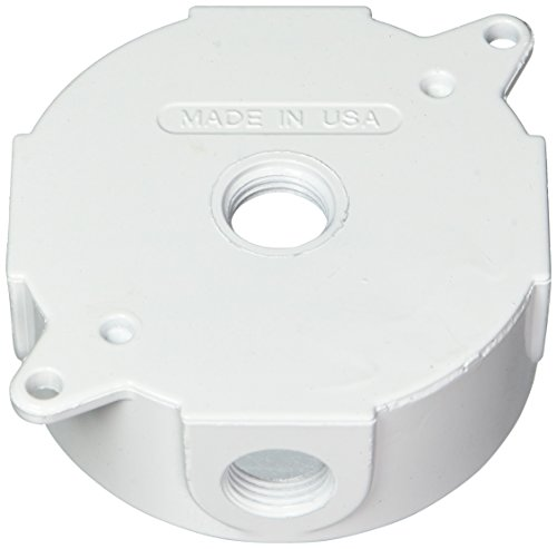 Greenfield RB25WS Series Weatherproof Electrical Outlet Box, White