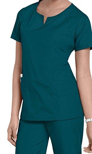 Smart Uniform M 1706 Round Neck Scrub (M, Caribbeanblue)